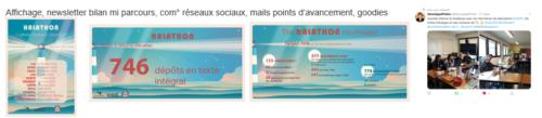 Visuels et points de parcours du Halathon